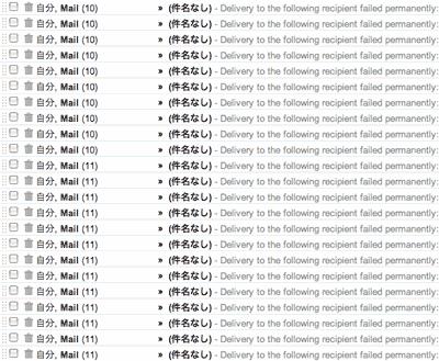 243通のスパムメール
