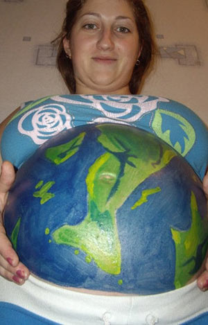 Pregnancy Art - Earth