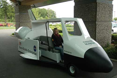 Golf Cart Mods -- Space Shuttle