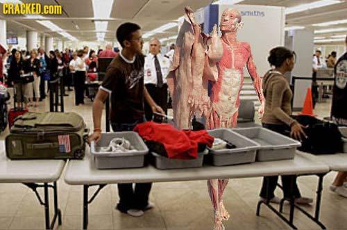空港セキュリティ - 皮膚まで脱ぐ