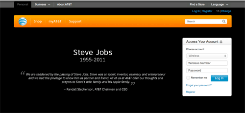 AT&T's tribute to Steve Jobs
