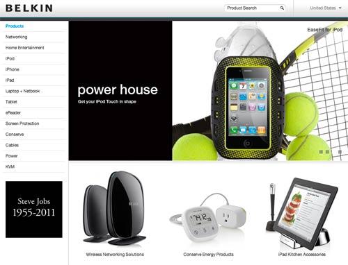Belkin's tribute to Steve Jobs