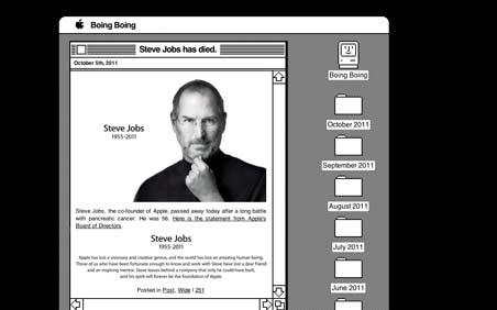 BoingBoing's tribute to Steve Jobs