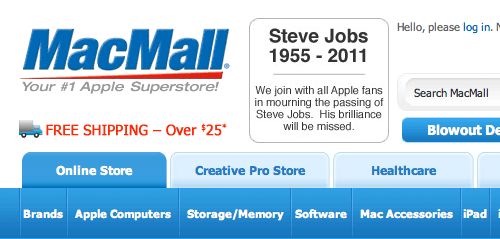MacMall's tribute to Steve Jobs
