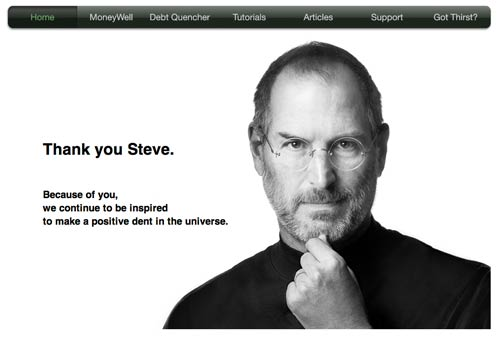 No Thirst Software's tribute to Steve Jobs