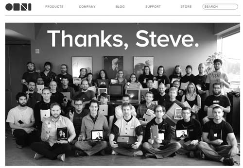 The Omni Group's tribute to Steve Jobs