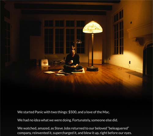 Panic Inc. leaves a tribute for Steve Jobs