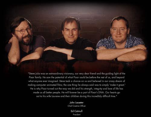 Pixar Animation Studio's tribute to Steve Jobs