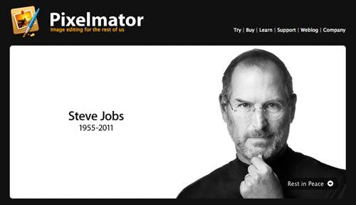 Pixelmator's tribute to Steve Jobs