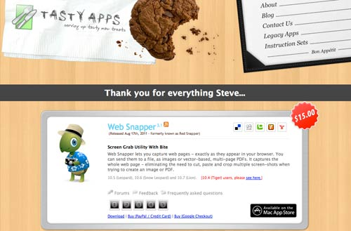 "A ""Thank You"" to Steve Jobs from Tasty Apps"