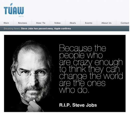 TUAW's tribute to Steve Jobs