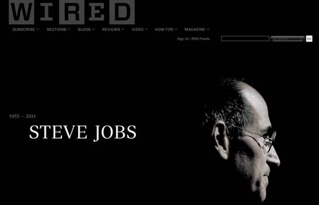 WIRED's tribute to Steve Jobs