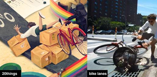 bike lane protest